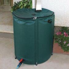 Portable Rain Barrel 50 Gallon Water Collector Spout Collapsible Outdoor Garden