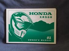 Honda XR50R OEM owners Manual 2001 XR 50 R Factory . Many years