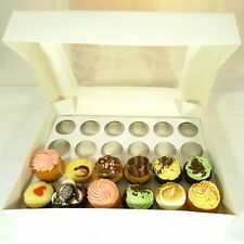 25 Counts of Window White Cupcake Box with 24 Cupcake Holder($3.90 Per Set)