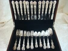 Strasbourg by Gorham Sterling Silver Flatware Place Size Set Service 62 Pieces
