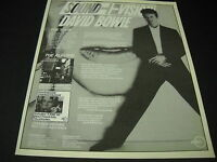 DAVID BOWIE The Tour The Albums... 1990 PROMO DISPLAY AD Sound Vision mint cond