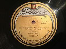 """MARIO CHAMLEE """"Una Furtiva Lagrima""""/""""Salut Demeure"""" RARE 78rpm 12"""" 1923 EX/NM"""