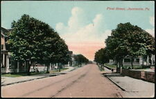 JEANNETTE PA First Street Antique Town View Old Pennsylvania Postcard 1913