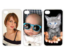 Personalized Photo Logo iPhone 4  Custom Picture CLEAR Hard Case Cover