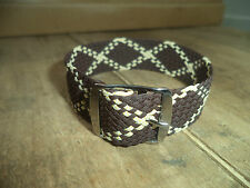 Rare Vintage vtg 18 or 19 mm Perlon Watch Strap Braided Nylon Band Brown NOS