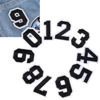 2pcs/1Set Number 0-9 Jersey Tags Markers Cloth Embroidery Sew On Patch Stickers