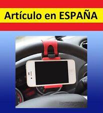 PINZA A SUJECION VOLANTE MOVIL smartphone MOTO gps BICI luz coche soporte iphone