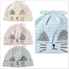 Cat Baby Hat Forehead Hat Newborn Hat Boy Hat Plaid Rabbit Ears Cotton BT