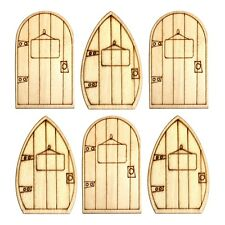 Pack of 6 Naughty Christmas Shelf Elf Wooden Doors for Walls & Skirting Boards