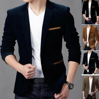 New Jacket Causal One Suit Velvet Hot Men's Blazer Fit Wedding Button Slim Coat