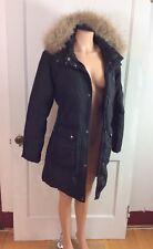 DKNY Down Winter Coat Jacket Fur Trim Women's Medium