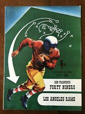 1952 SAN FRANCISCO FORTY NINERS 49ers NFL FOOTBALL PROGRAM v. LOS ANGELES RAMS