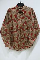 NWT Vintage Guess Georges Marciano geometric long sleeve shirt button up mens XL