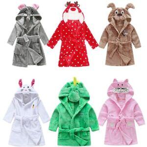 3D Cartoon Animal Toddler's  Nightgown Unisex Kids Pajamas Boys Girls Bathrobes