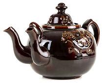 c1860 Masonic Treacle Glaze Twin Spouted Teapot