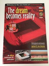 RARE Sunderland v Ajax 1997 Signed Programme + COA PETER REID KEVIN BALL