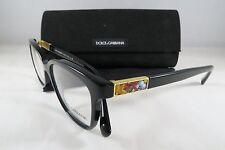 Dolce & Gabbana DG 3187 501 Black New Authentic Eyeglasses 52mm w/Case