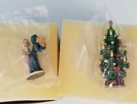 2 Goebel Olszewski Miniatures MAMA & PAPA & YULE TREE 692-P & 688-P