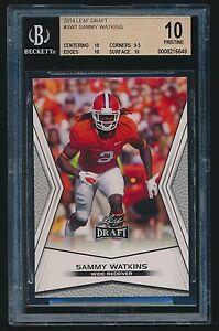 2014 Leaf Draft rookie #SW1 Sammy Watkins rc BGS 10 PRISTINE