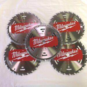 "MILWAUKEE (5 Pack) 7 1/4"" 24 Circular Saw 48-41-0710 Blades -  NEW"