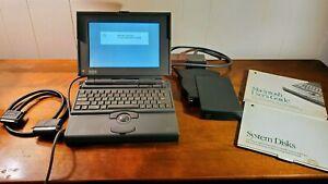 Macintosh PowerBook 165 w/ external hard drive & original box - fully functional