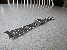 Unbranded Polished Stainless Steel Solid Link 24mm Curved End Watch Band N13