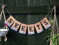 CARDS GIFTS Custom Personalised Burlap Hessian Banner Bunting Wedding BabyShower