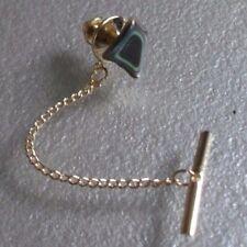 Vintage Tie Tack Stud Pin Retro Tac GOLD TONE OPALESCENT STONE