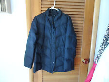 Ladies black puffer style Down winter coat  size M from Green Par Sport