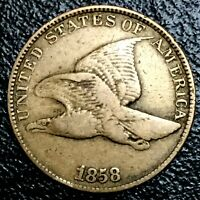 1858 Philadelphia Mint Copper-Nickel Flying Eagle Cent Large Letters