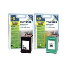 Moreinks Remanufactured HP 338/343 Black+Tri-Colour Ink Cartridge for HP Printer