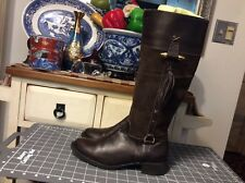 Frattini Women's Brown leather/ Suede Knee hight zip, Boots Sz 38/ US/7M, Brazil