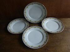 4 anciennes assiettes plate en porcelaine à motif floral