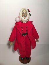 "Victorian Dressed Christmas Caroler Santa Claus 12"" Singing table top display"