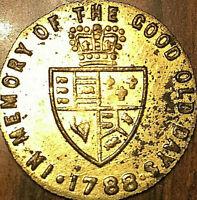 1788 GEORGIAN HALF GUINEA BRASS COUNTER TOKEN VINTAGE GAMING TOKEN