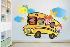 ced216 Full Color Wall decal Sticker kids school bus bedroom kids nursery
