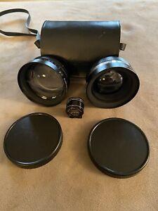 Yashikor Aux Telephoto 1:4 Wide Angle 1:4 Lenses Tele-Wide Finder Leather Case