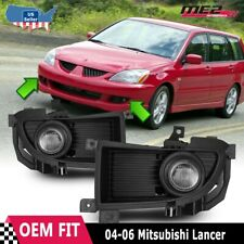 For Mitsubishi Lancer 06 Factory Replacement Fit Fog Lights + Kit Clear Lens