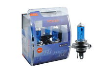 Coppia Lampade Lampadine Alogene H4 60/55W 12v XENON BLUE PowerTec Xeno Bianche