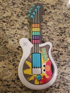 2010 HASBRO SESAME STREET PLAYSKOOL LET'S ROCK ELMO GUITAR MUSIC LIGHTS UP