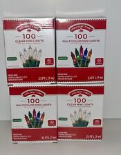 Holiday Time 100 Multicolored & Clear Mini Lights Wedding Christmas Green Wire