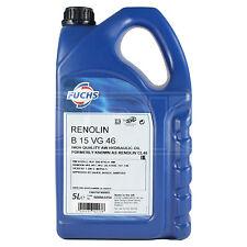 Fuchs Renolin B15 VG46 High Quality Hydraulic & Lubricating Oil 5 Litres 5L