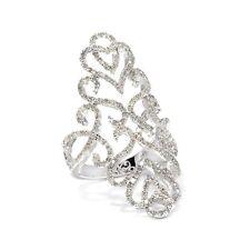 RARITIES CAROL BRODIE 1ct DIAMOND STERLING SILVER FILIGREE RING SIZE 11 HSN $399