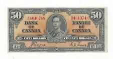 **1937**Canadian $50 Dollar Note BC-26c,  Coy/Tow SN# B/H 4640748
