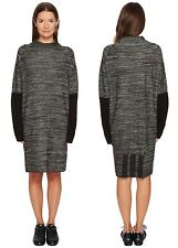 Y-3 X Adidas Oversize Knit Dress Black Size Small MSRP $590  L/S Wool Blend