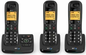 BT XD56 Trio Cordless Phones with Answering Machine - Black