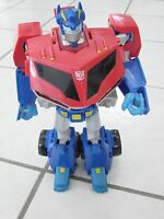 """Transformers 2008 Animated Leader Class Autobot Optimus Prime 12"""" mouth moves"""