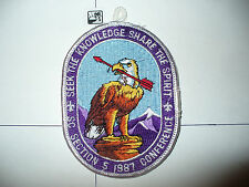 OA 1987 Area SC-5,Conference Patch,pp,137 HOST,60,72,99,137,272,307,578,Texas,TX