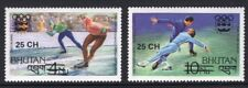 Bhutan 261-62 1978 Olympic Games Surcharge Mint NH