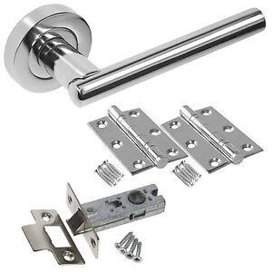 Rosetta Internal Door Handle Sets - Latch Lock Bathroom Door Handle Packs JV843